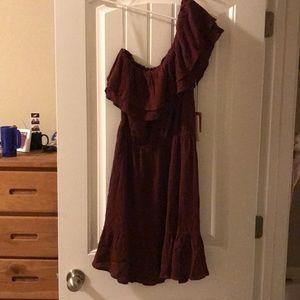 Burgundy dress Mossimo Target